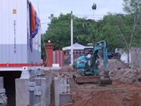 Construction of Container Foundation & Installation Work