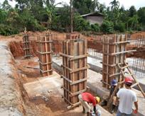 Construction of Foundation Long Column Work