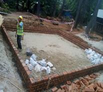 Construction of Steel Structure  Foundation Work (MDY & MGW Region)